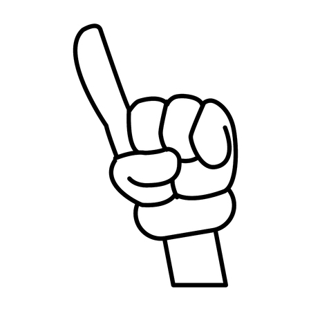 illustration: Hand glove cartoon icon vector illustration graphic design Illustration