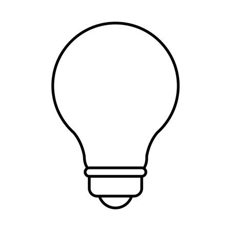 power: Bulb light energy icon vector illustration graphic design