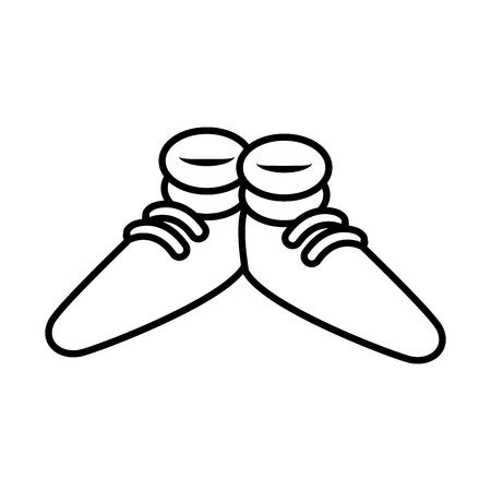 illustration: Funny shoes cartoon icon vector illustration graphic design