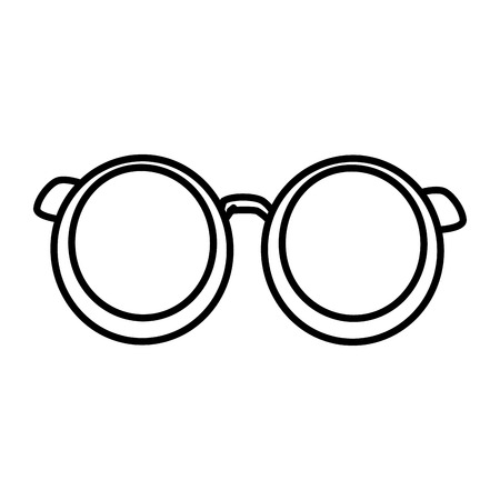 accessory: Old glasses isolated icon vector illustration graphic design