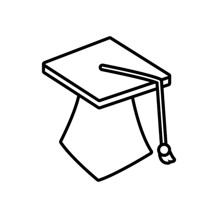 onderwijs: Graduation student hat icon vector illustration graphic design