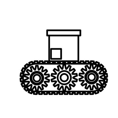 power: Box in conveyor icon vector illustration graphic design Illustration