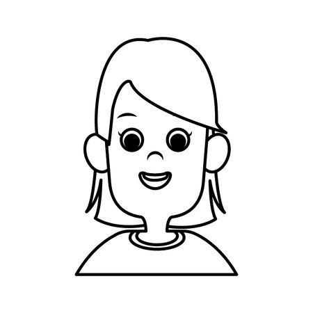 illustration: Cute girl cartoon icon vector illustration graphic design