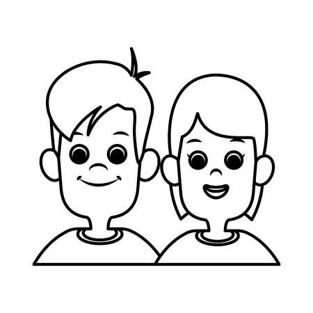 illustration: Kids friends cartoon icon vector illustration graphic design