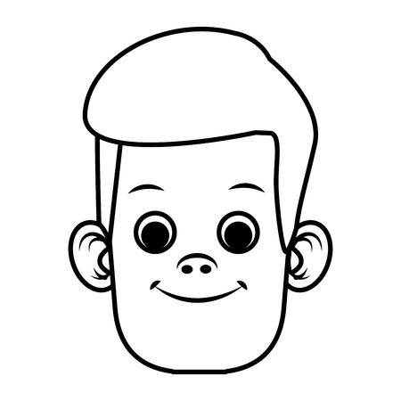 illustration: Cute boy cartoon icon vector illustration graphic design Illustration