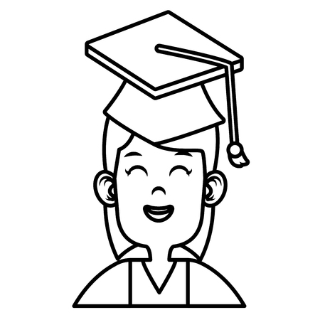 onderwijs: Student graduation cartoon icon vector illustration graphic design