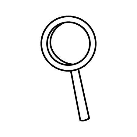 forme: Magnifying glass isolated icon vector illustration graphic design