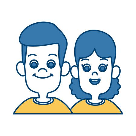 Kids friends cartoon icon vector illustration graphic design