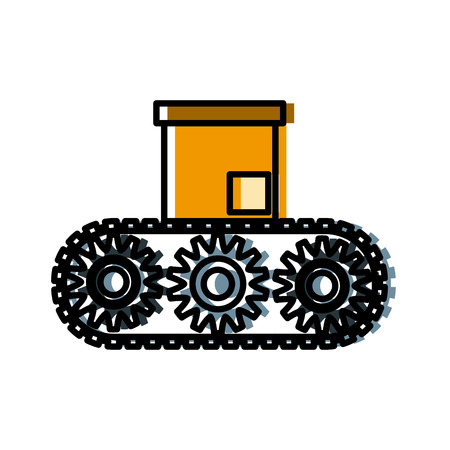 Box in conveyor icon vector illustration graphic design Illustration