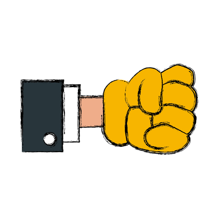 Glove hand clenched icon vector illustration graphic design.