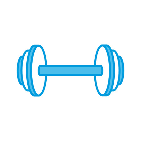 signo pesos: Dumbbell iron weight icon vector illustration graphic design