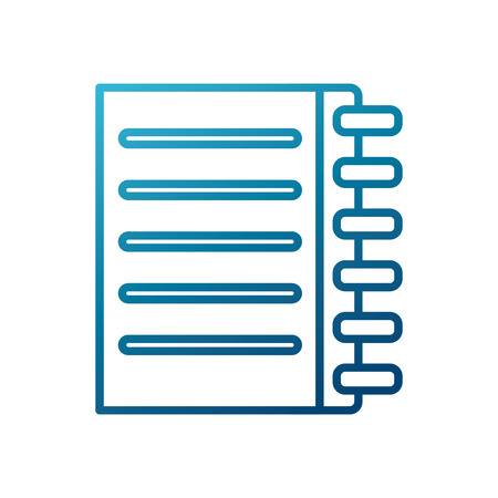 white sheet: Notebook page isolated icon vector illustration graphic design