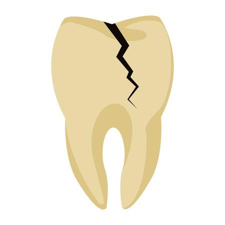 orthodontist: Tooth broken symbol icon vector illustration graphic design