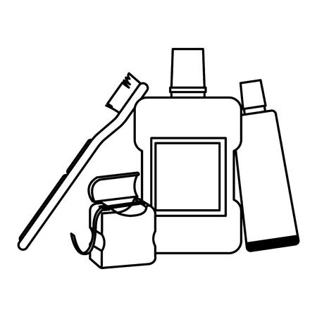 Dental hygiene products icon vector illustration graphic design Illustration