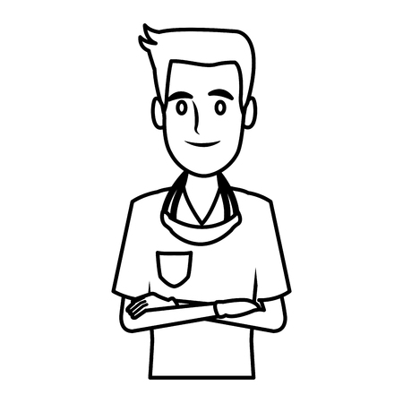 Dentist cartoon isolated icon vector illustration graphic design Vector Illustration