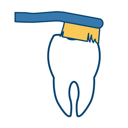 Toothbrush dental hygiene icon vector illustration graphic design