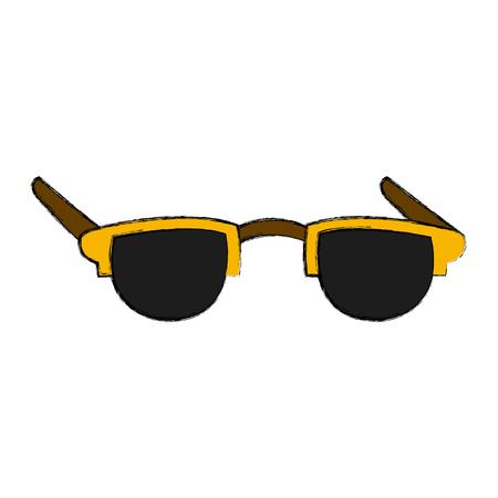Nerd glasses isolated icon illustration graphic design.