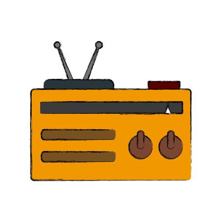 fm: Old radio stereo icon vector illustration graphic design Illustration