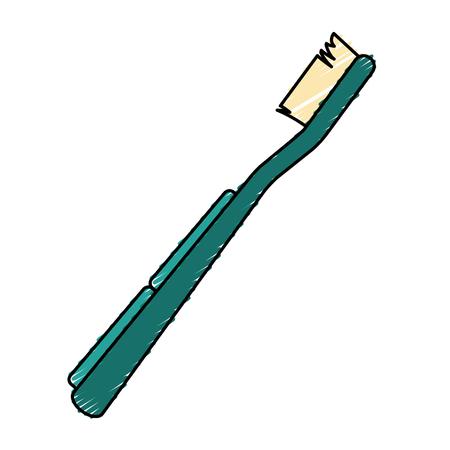 orthodontist: Toothbrush dental hygiene icon vector illustration graphic design