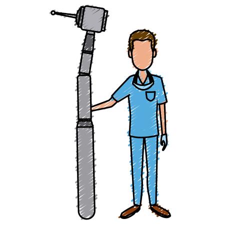 art piece: Dentist cartoon isolated icon vector illustration graphic design Illustration