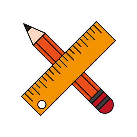 pencil and ruler icon image vector illustration design