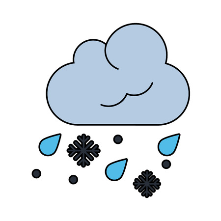 Rain and snow falling icon.
