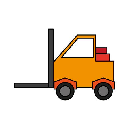 heavy industry: forklift industrial icon image vector illustration design Illustration
