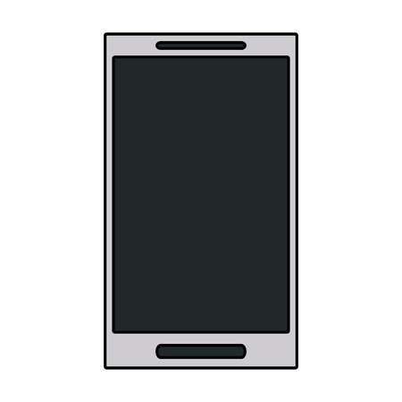 smartphone icon: smartphone with blank screen icon image vector illustration design Illustration