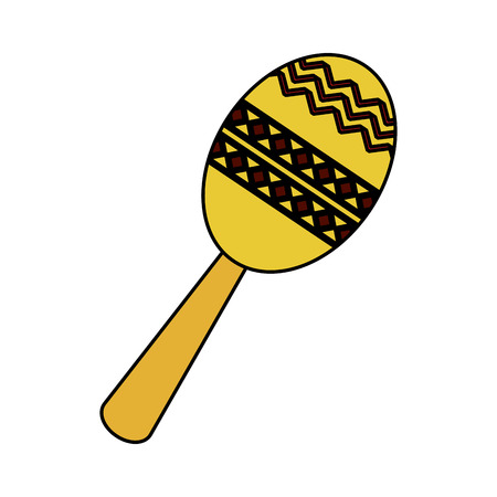 maraca musical instrument icon image vector illustration design