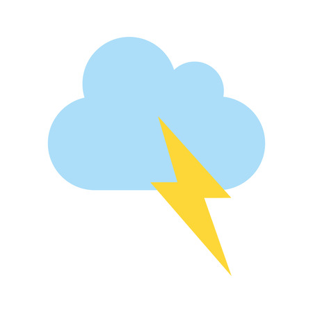 thunderbolt and cloud weather icon image vector illustration design Illustration