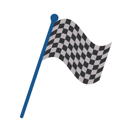 checkered flag car racing related icon image vector illustration design Illustration