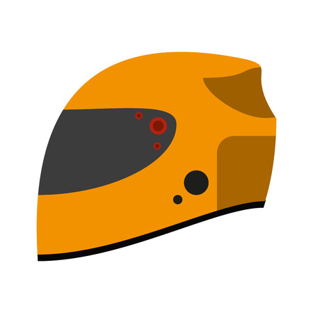 head protection: helmet motorcycle icon image vector illustration design Illustration
