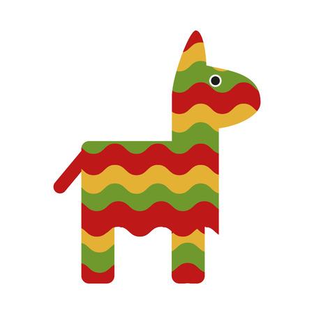 pinata mexican culture related icon image vector illustration design Illustration