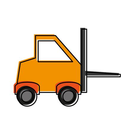 fork lifts trucks: forklift industrial icon image vector illustration design Illustration