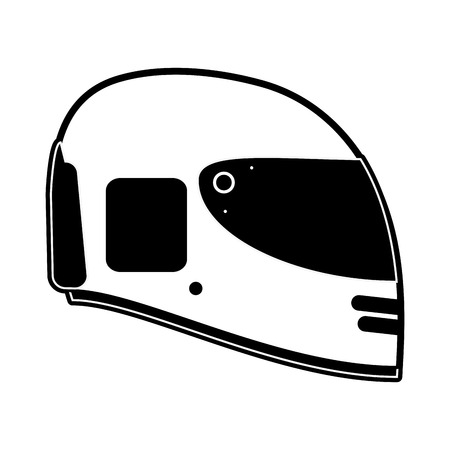 head protection: helmet motorcycle icon image vector illustration design  black and white Illustration