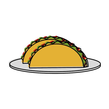 tacos food mexican culture related icon image vector illustration design
