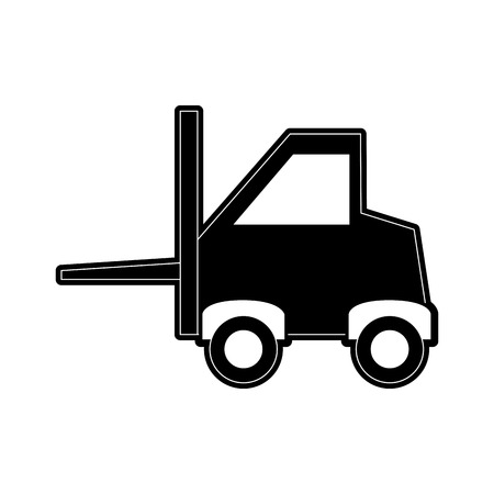 heavy industry: forklift industrial icon image vector illustration design  black and white