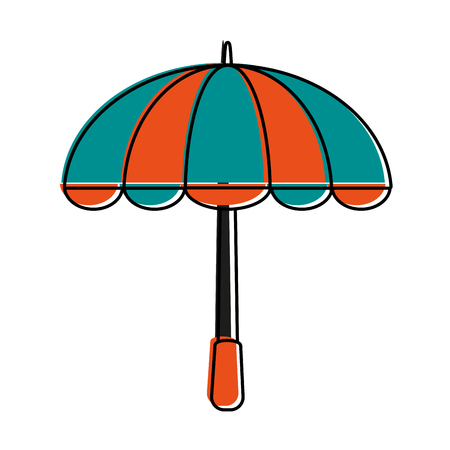 open umbrella icon image vector illustration design