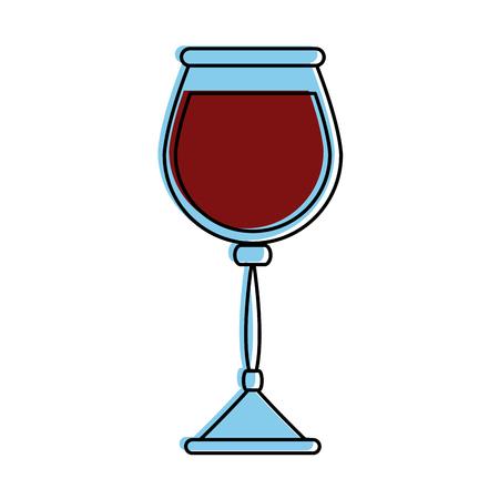 glass of wine icon image vector illustration design Stock Vector - 87669713