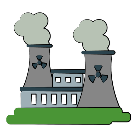 vector nuclear: nuclear plant icon image vector illustration design