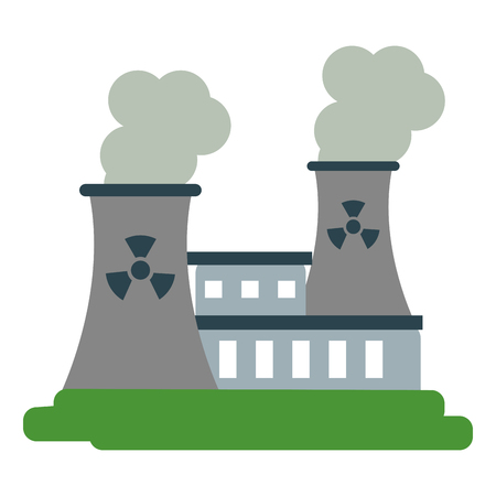 dangerous construction: nuclear plant icon image vector illustration design