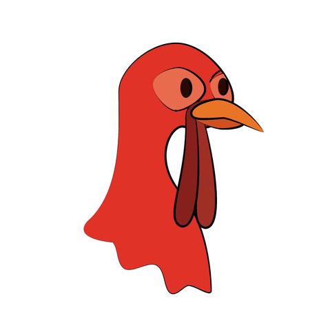 turkey animal icon image vector illustration design
