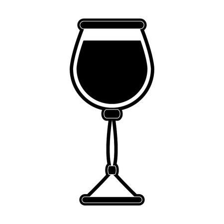 glass of wine icon image vector illustration design  black and white