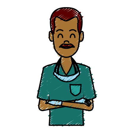 Dentist cartoon isolated icon vector illustration graphic design