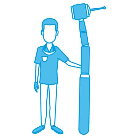 Dentist cartoon isolated icon vector illustration graphic design Illustration