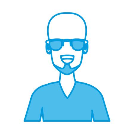 Man with sunglasses icon vector illustration graphic design