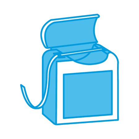 Dental floss isolated icon vector illustration graphic design