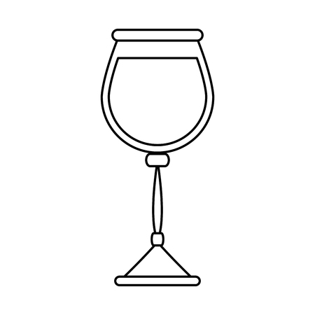 Glass of wine in white background. vector illustration design