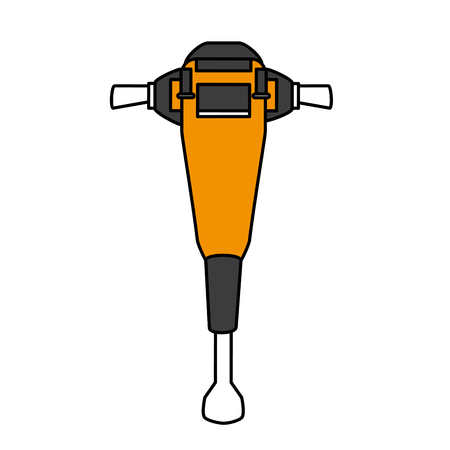 Jackhammer tool icon image vector illustration design Illustration