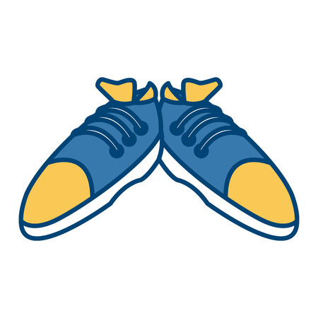 Sport sneakers isolated icon.